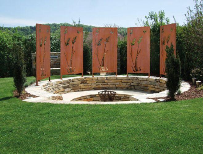 Gartenmetall Vista Wand2 Immergrun Steinheim